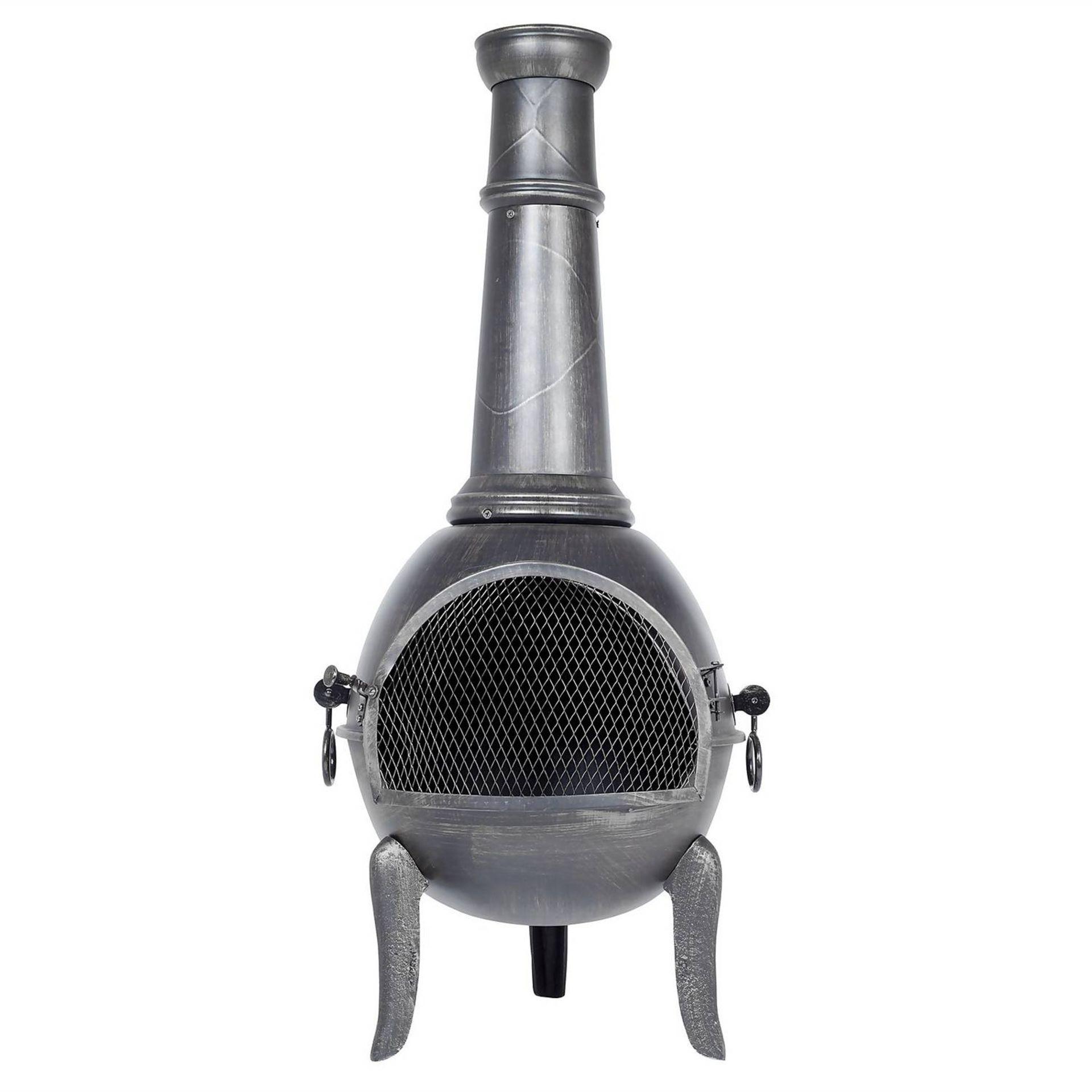 (P2) 1x La Hacienda Monterrey Steel Chimenea (H123cm x D50cm)