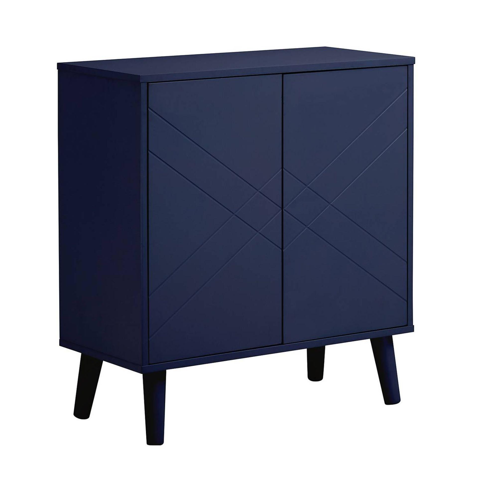 (2K) 4x Items. 1x Hamilton Shoe Cabinet Charcoal. 1x Hamilton Hallway Cabinet Navy (H76x W70x D32.5 - Image 2 of 8