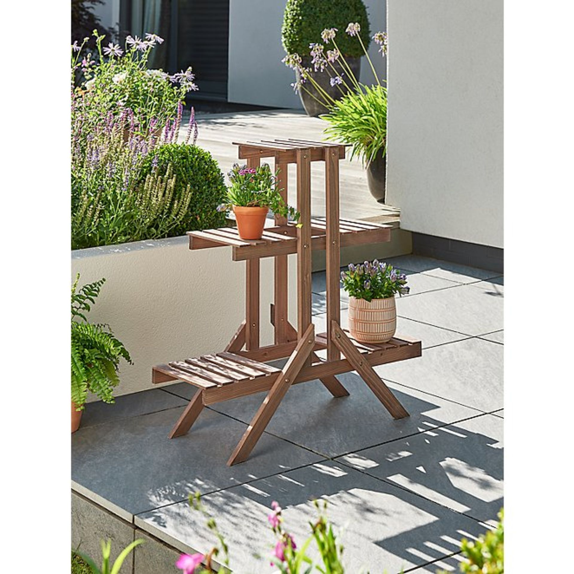 (3C) 2x Items. 1x GH Wooden Plant Stand. 1x GH Wooden Potting Bench.
