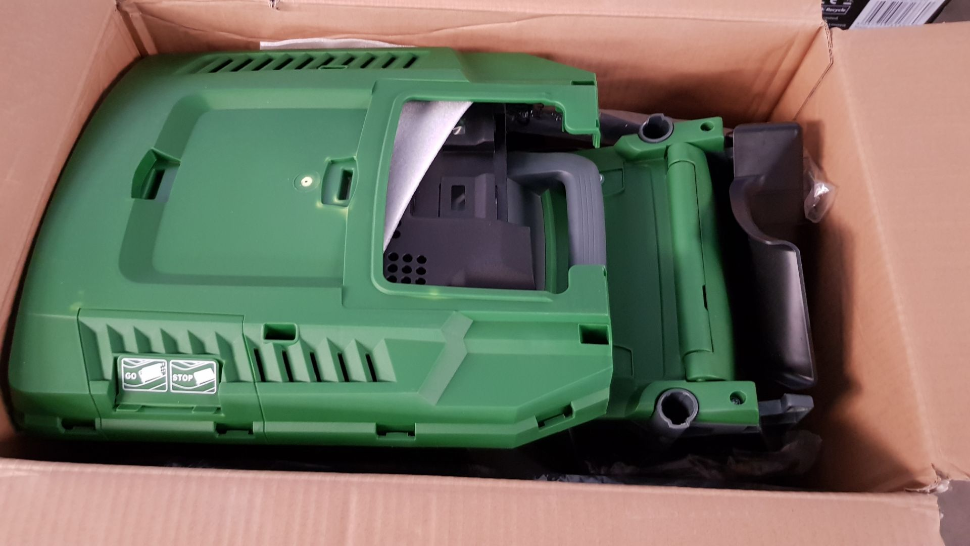 (P8) 1x Powerbase 32cm 1200W Electric Rotary Lawnmower RRP £59. Contents Appear As New, Clean & Not - Image 4 of 4