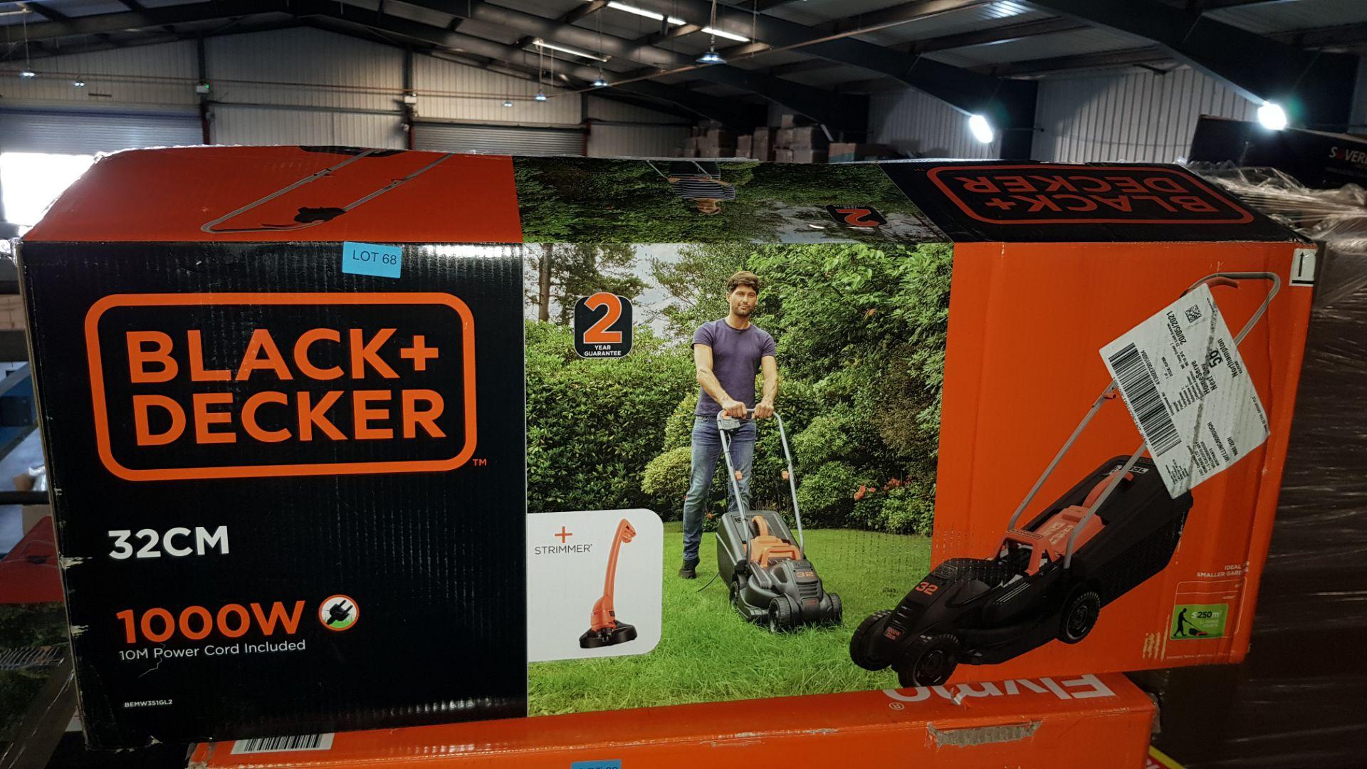 (P5) 1x Black & Decker 32cm 1000W Corded Lawn Mower & Strimmer RRP £99. Contents Appear Clean, Unu - Image 2 of 3