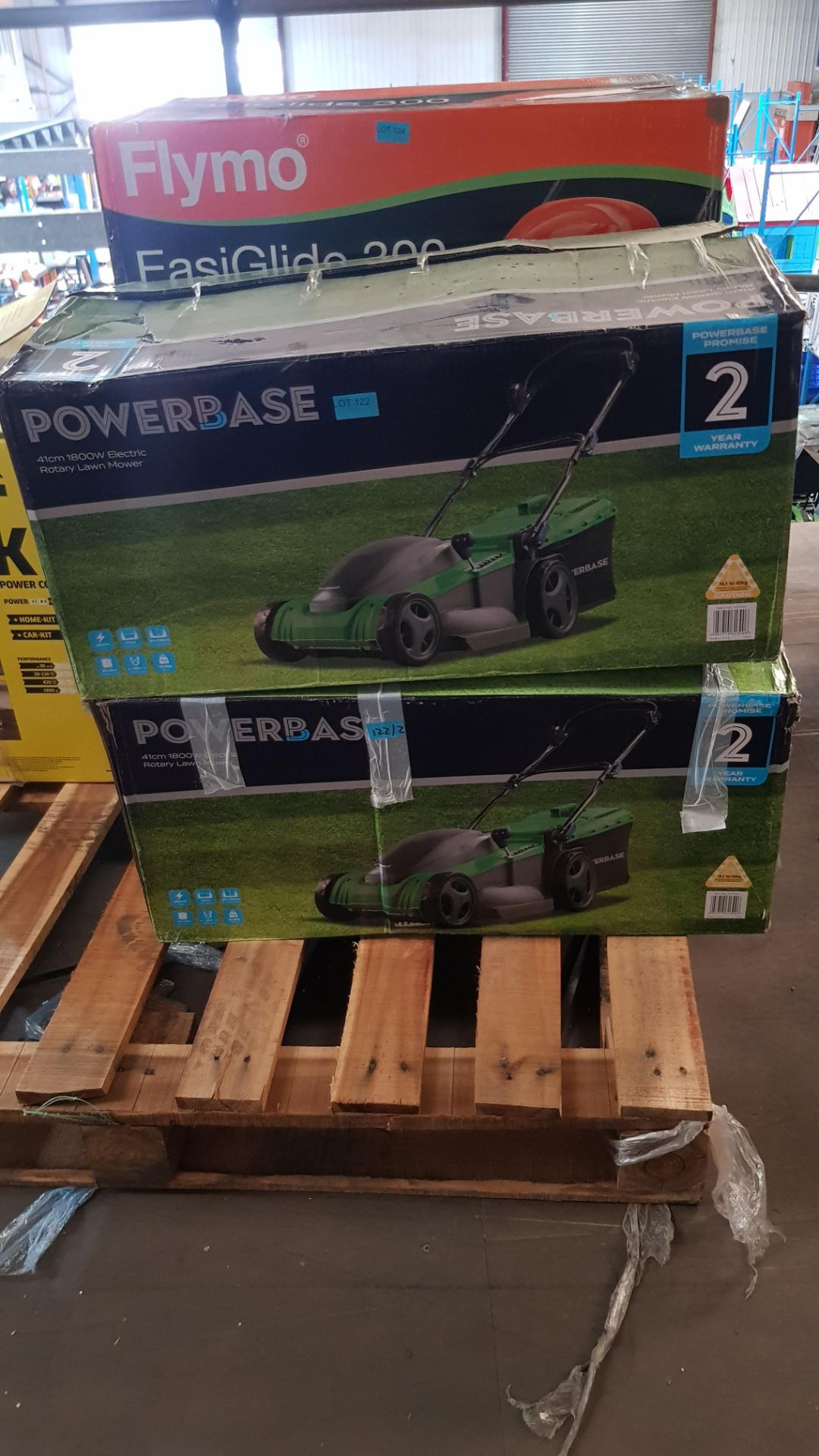 (P2) 2x Powerbase 41cm 1800W Electric Rotary Lawn Mower. RRP £119.00. - Image 3 of 3