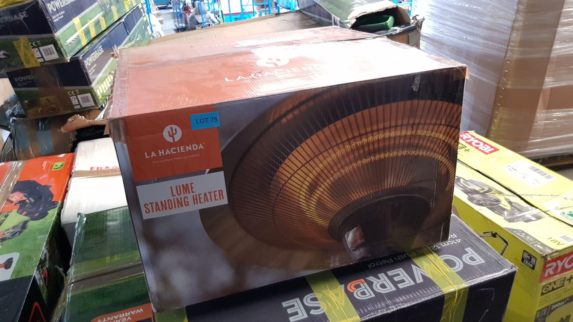 (P3) 1x La Hacienda Lume Standing Heater. (H205x D50x Base D40.5cm). Contents In Original Packaging - Image 2 of 3