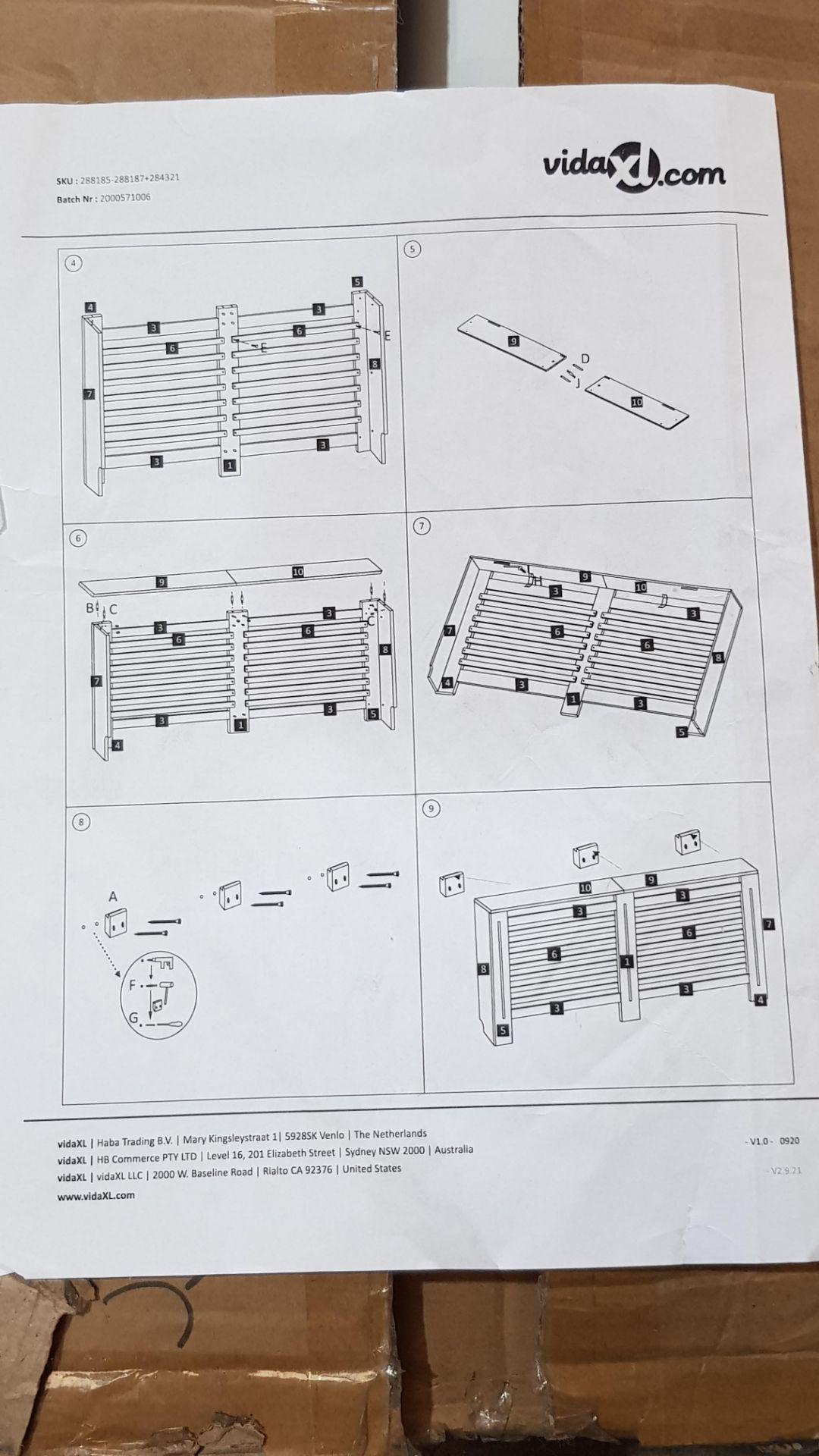 (3E) 2x Items. 1x Living Elements Bamboo Shoe Bench With Grey Cushion Seat. 1x VidaXL.com Radiator - Image 6 of 7