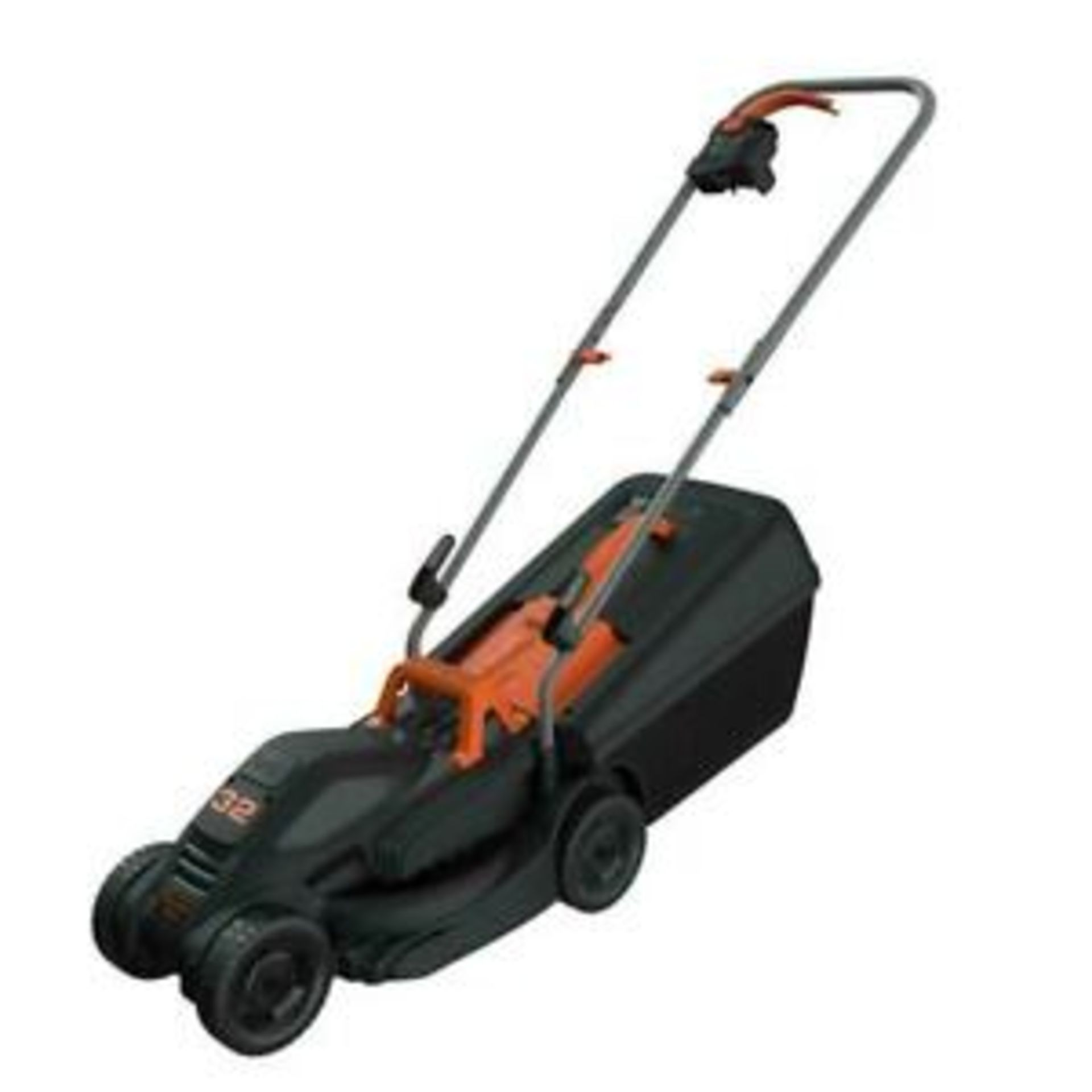 (P5) 1x Black & Decker 32cm 1000W Corded Lawn Mower. Contents Appear Clean, Unused. (Please Note –
