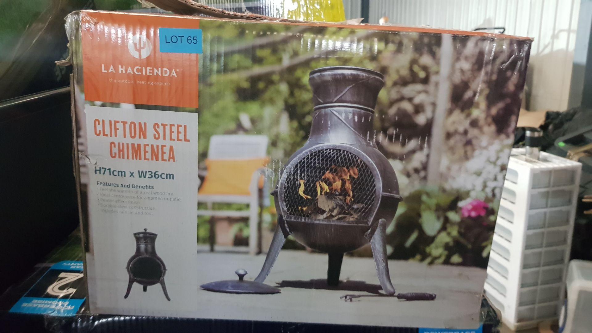 (P5) 1x La Hacienda Clifton Steel Chimenea (H71x W36cm) - Image 2 of 2