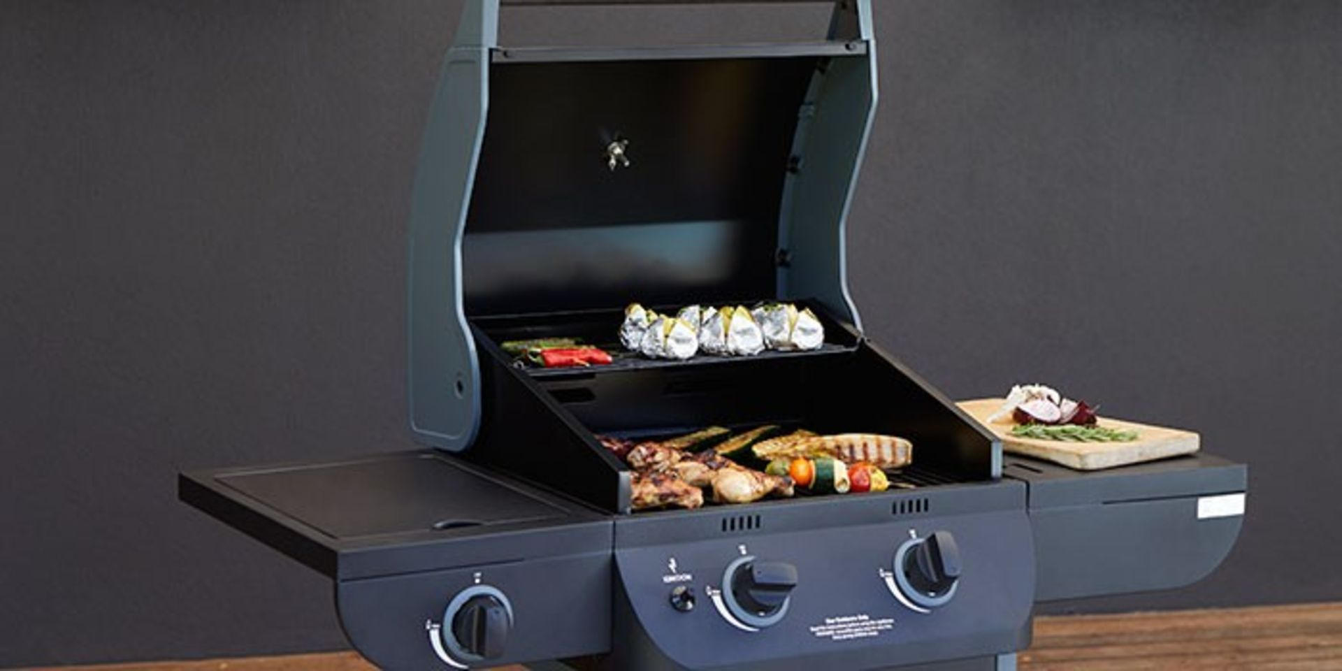 (P8) 1x Texas Nimbus 2 Burner Gas BBQ RRP £80. Contents Appear As New – Unused & Not Previously Re
