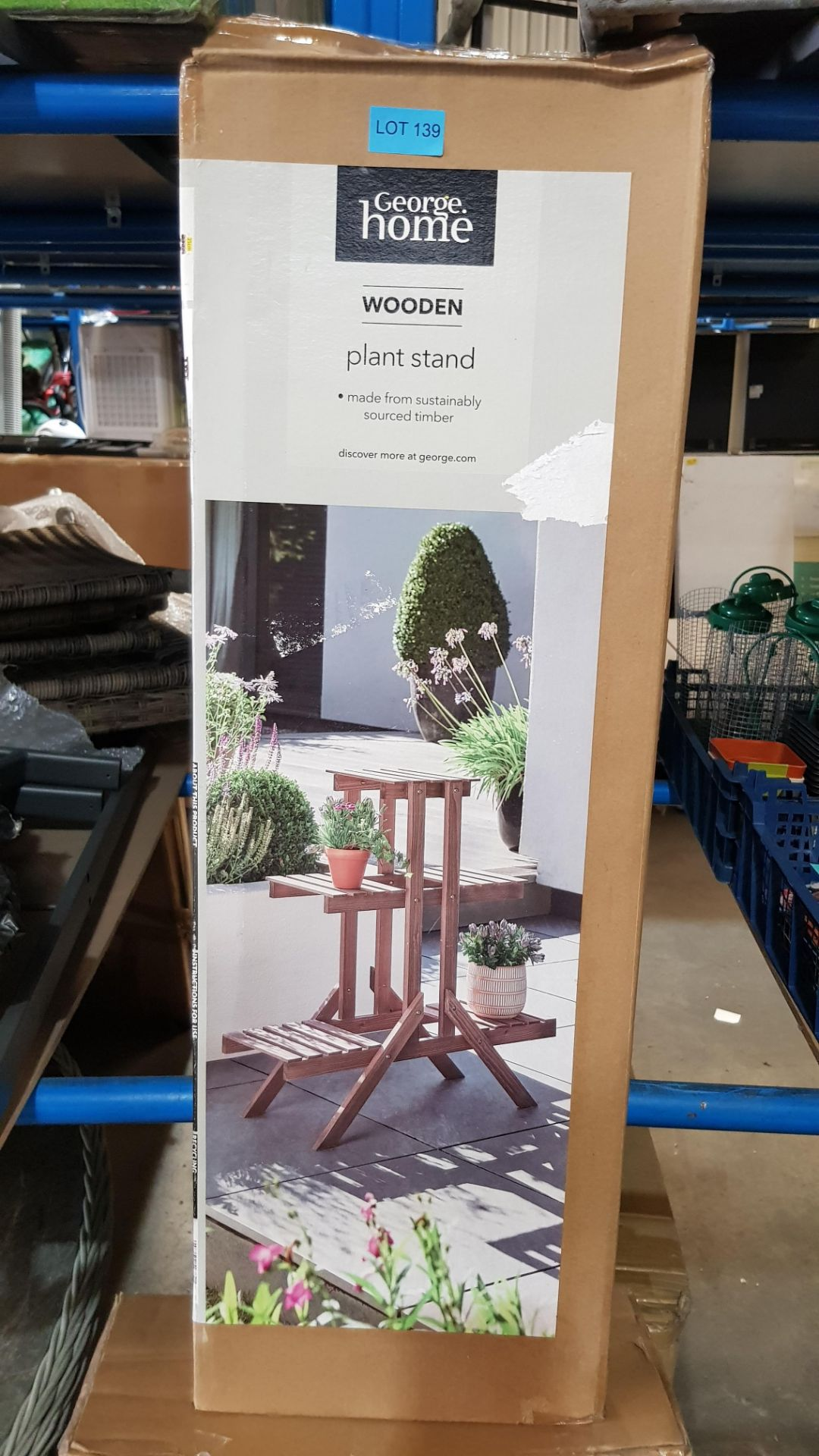 (3C) 2x Items. 1x GH Wooden Plant Stand. 1x GH Wooden Potting Bench. - Image 4 of 5