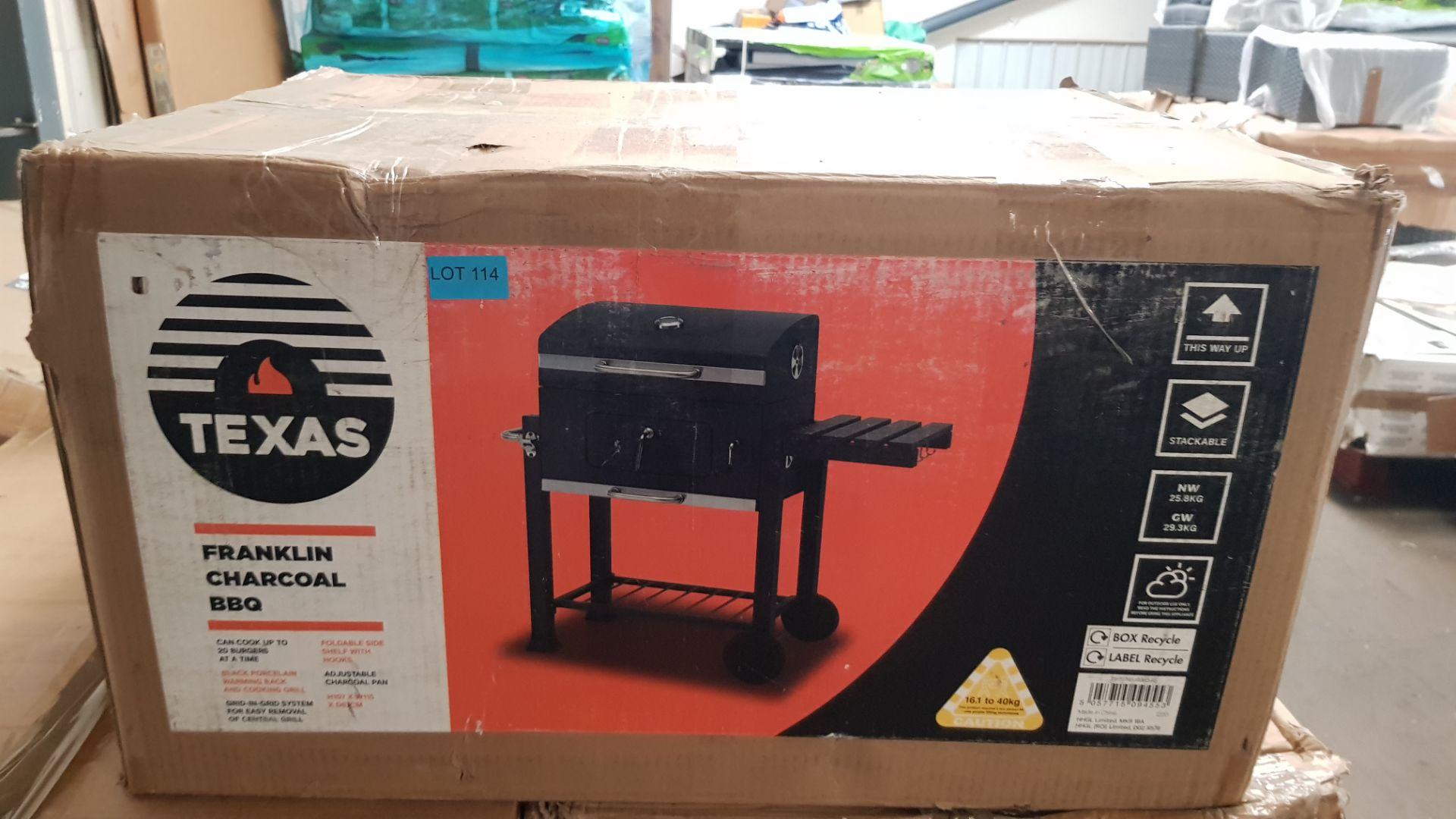 (P3) 1x Texas Franklin Charcoal BBQ. RRP £180.00. Unit Appears Clean, Unused – But Fixings Pack Has - Image 3 of 6