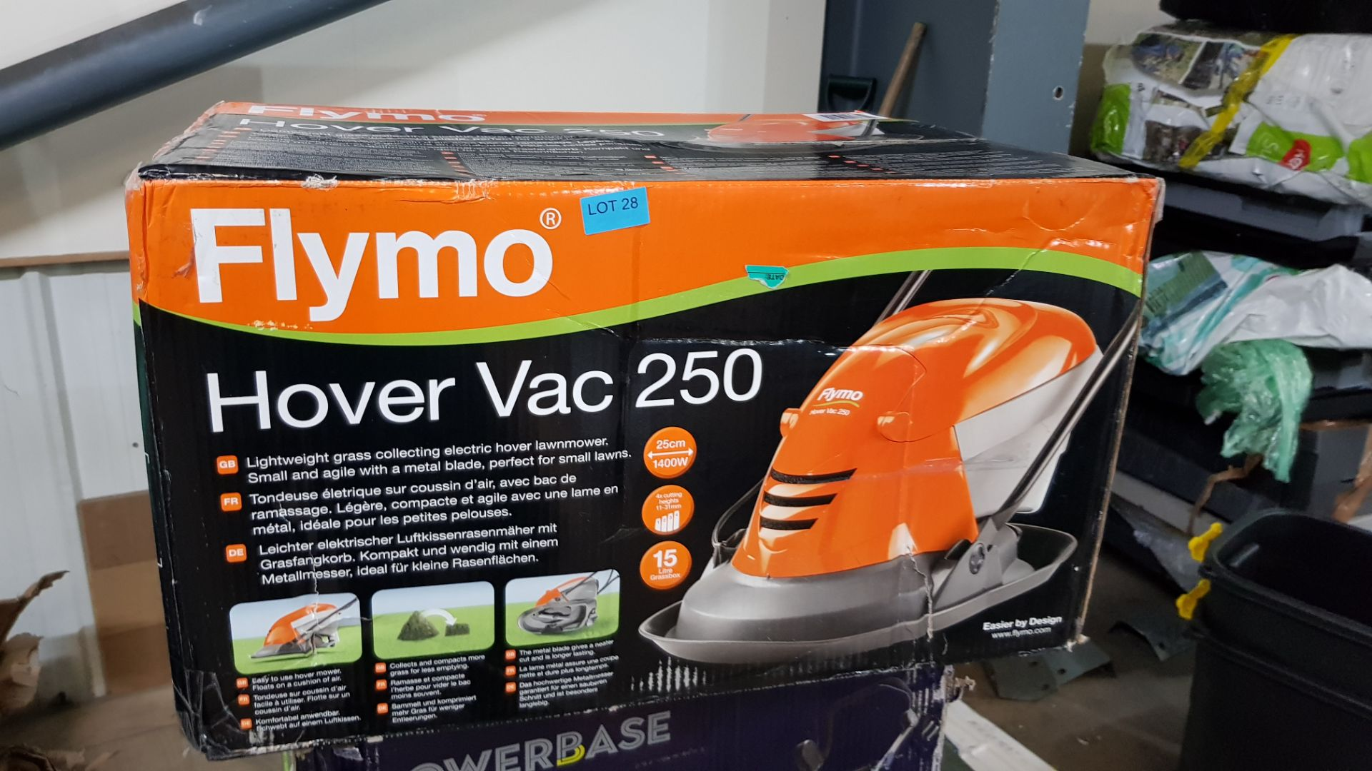 (P10) 1x Flymo Hover Vac 250 RRP £80. New, Sealed Item With Some Box Damage. - Image 3 of 4