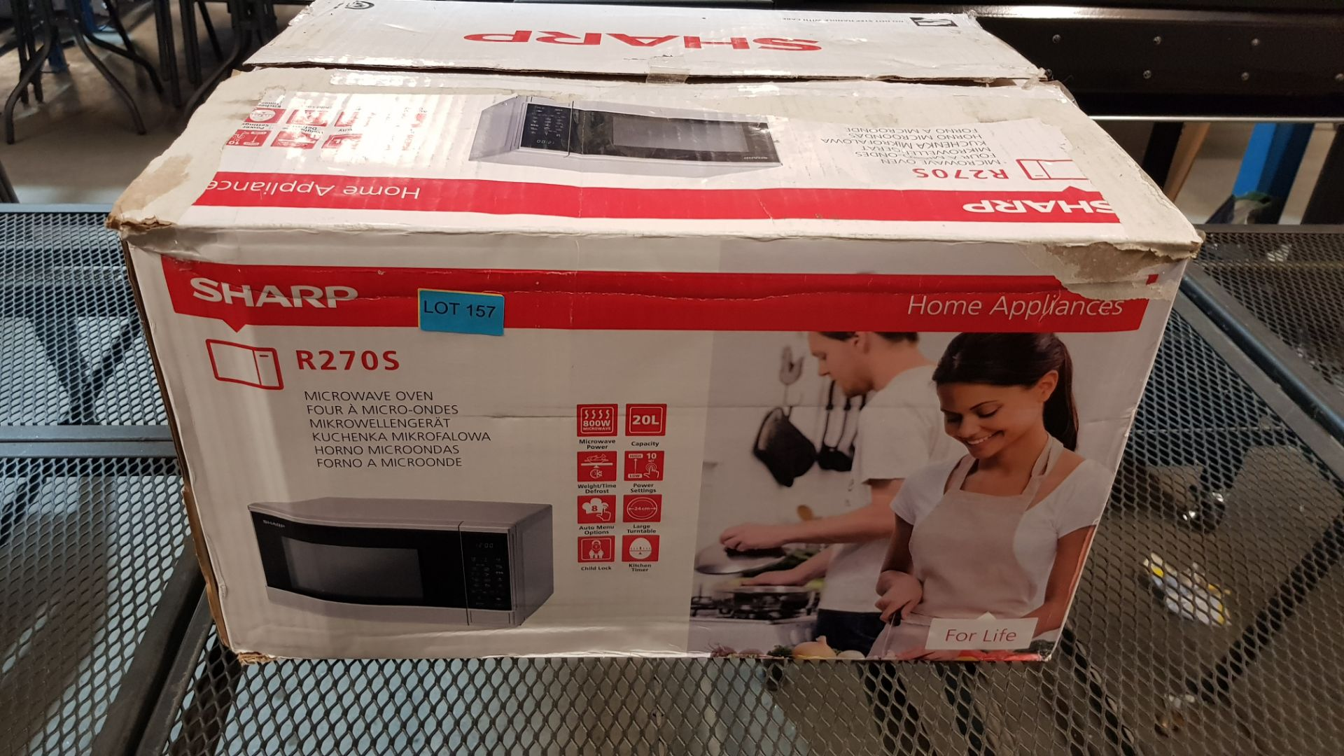 (15) 1x Sharp Microwave Oven Silver RRP £80. 800W, 20L, Weight / Time Defrost, Child Lock & Kitchen - Image 3 of 10
