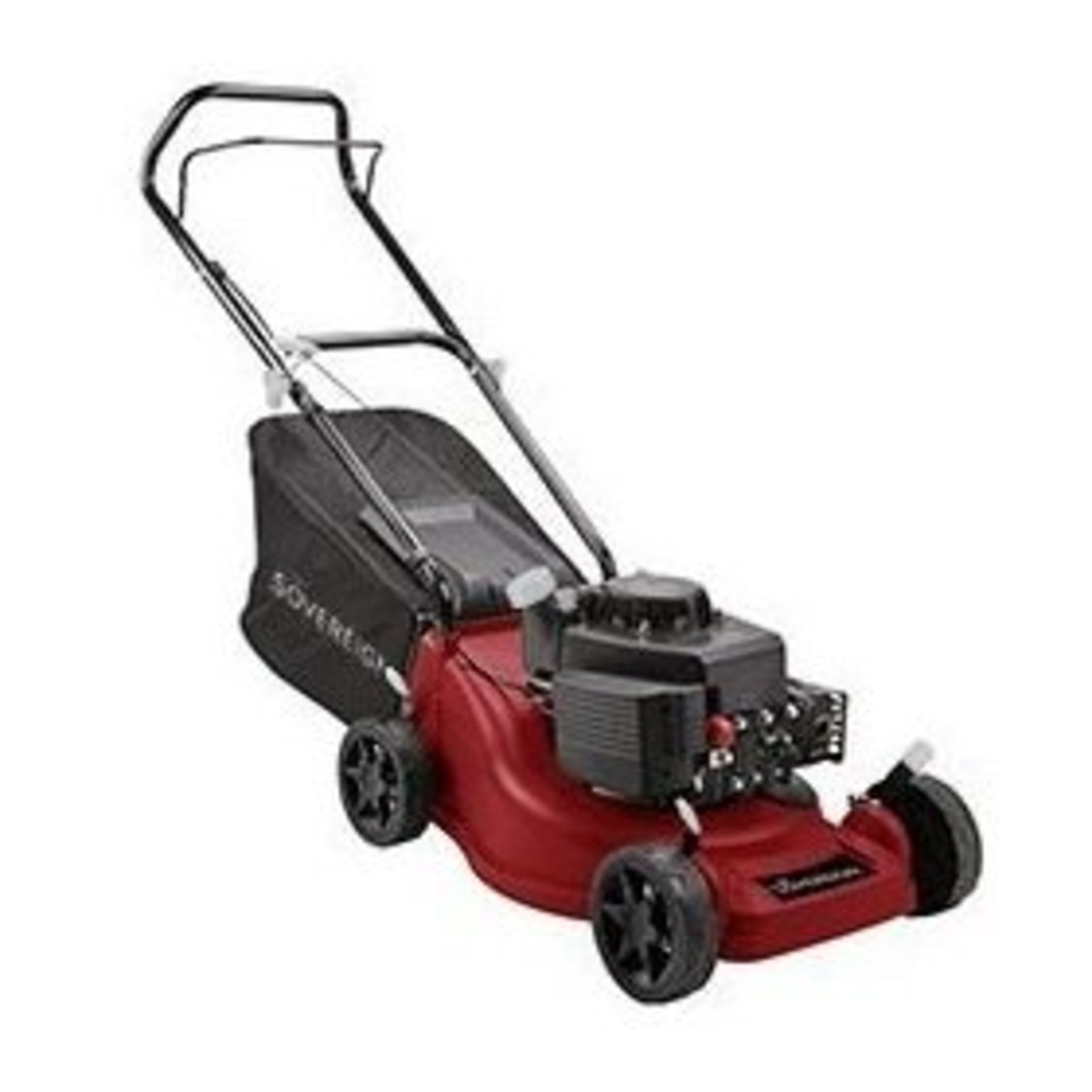 (P10) 1x Sovereign 40cm Push Petrol Lawn Mower 127cc RRP £125. New, Sealed Item With Damage To Box