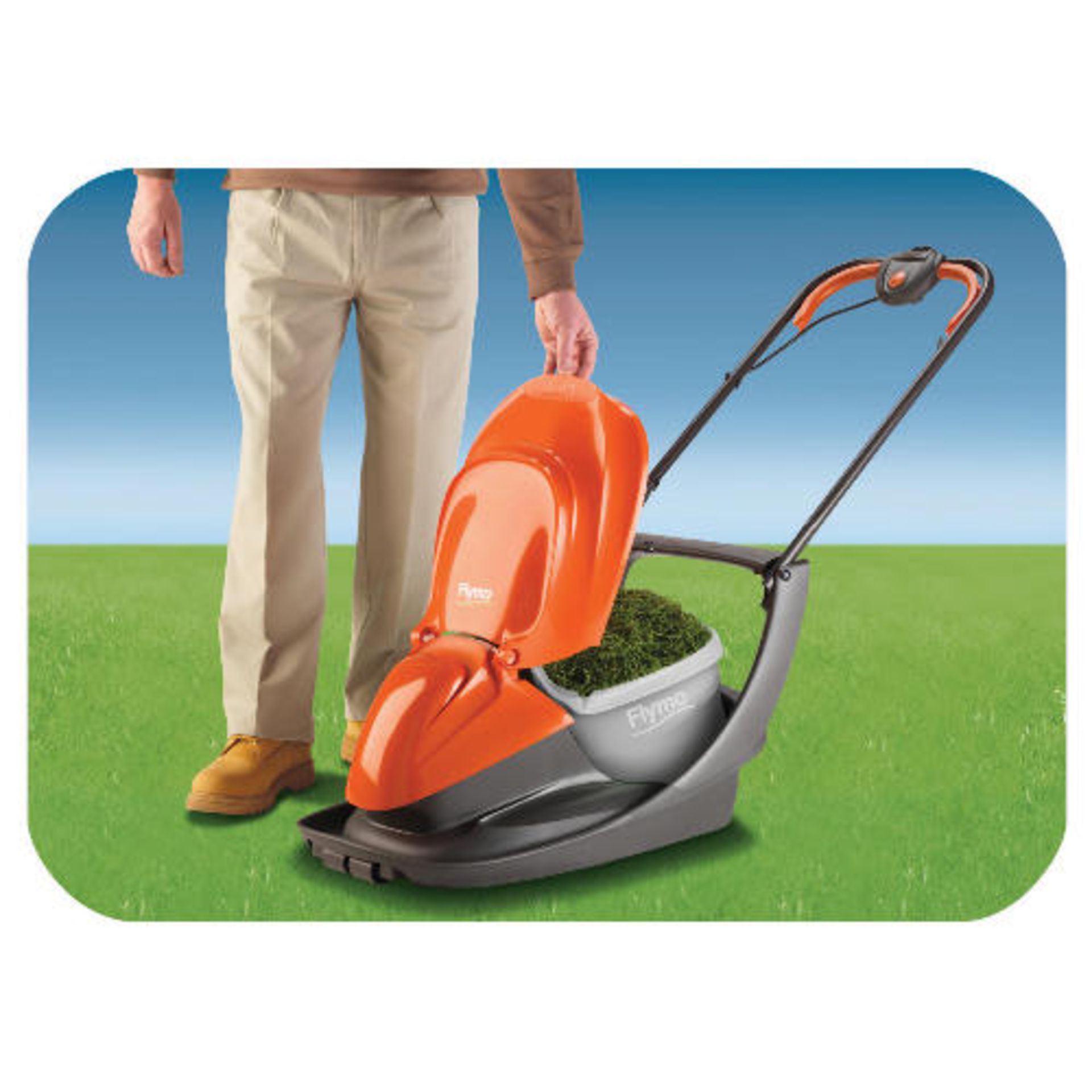 (P7) 2x Flymo EasiGlide 360V Electric Hover Collect Lawnmower RRP £120 Each. - Image 2 of 3