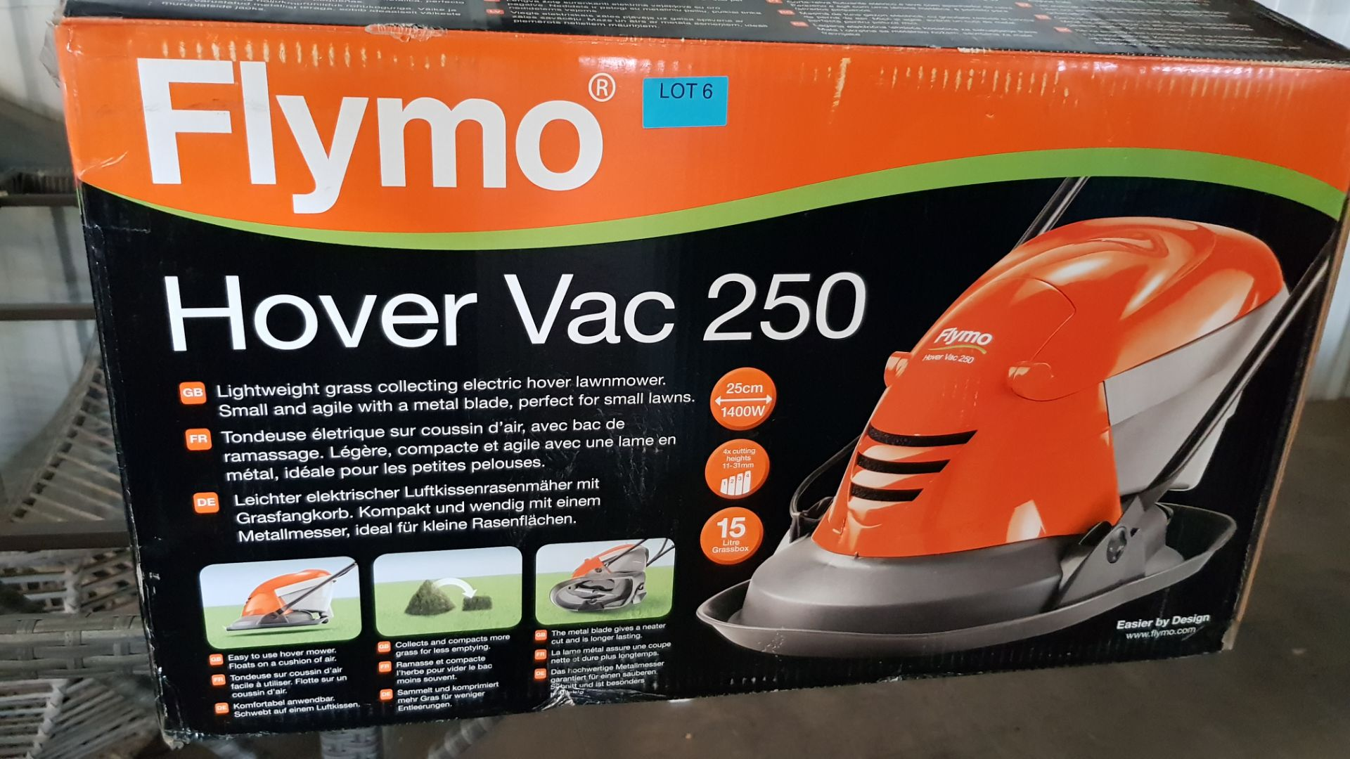 (P8) 1x Flymo Hover Vac 250 RRP £80. Contents Appear Clean, Unused. - Image 3 of 5