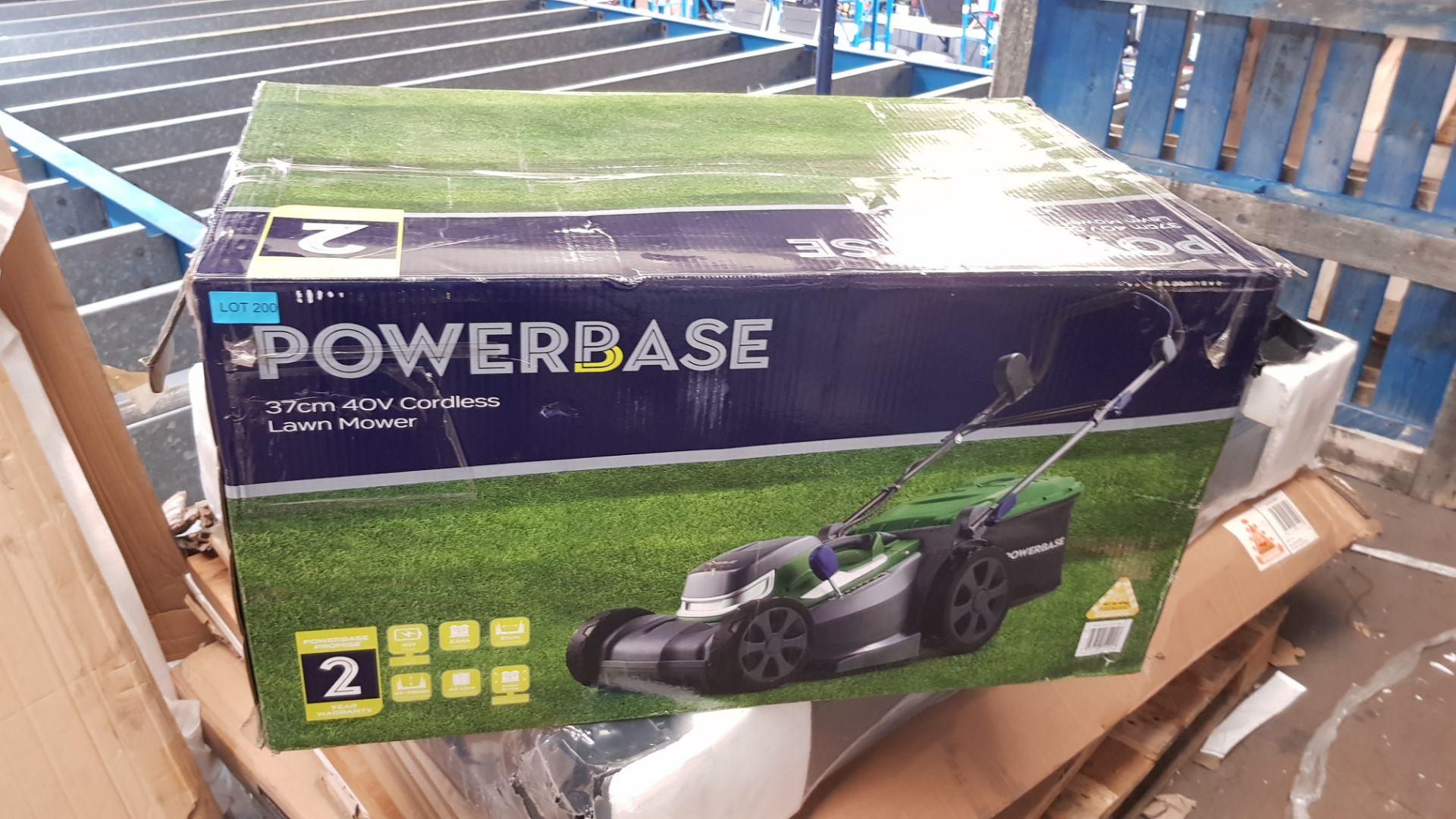 (P7) 1x Powerbase 37cm 40V Cordless Lawn Mower RRP £229. New, Sealed Unit. - Image 3 of 4