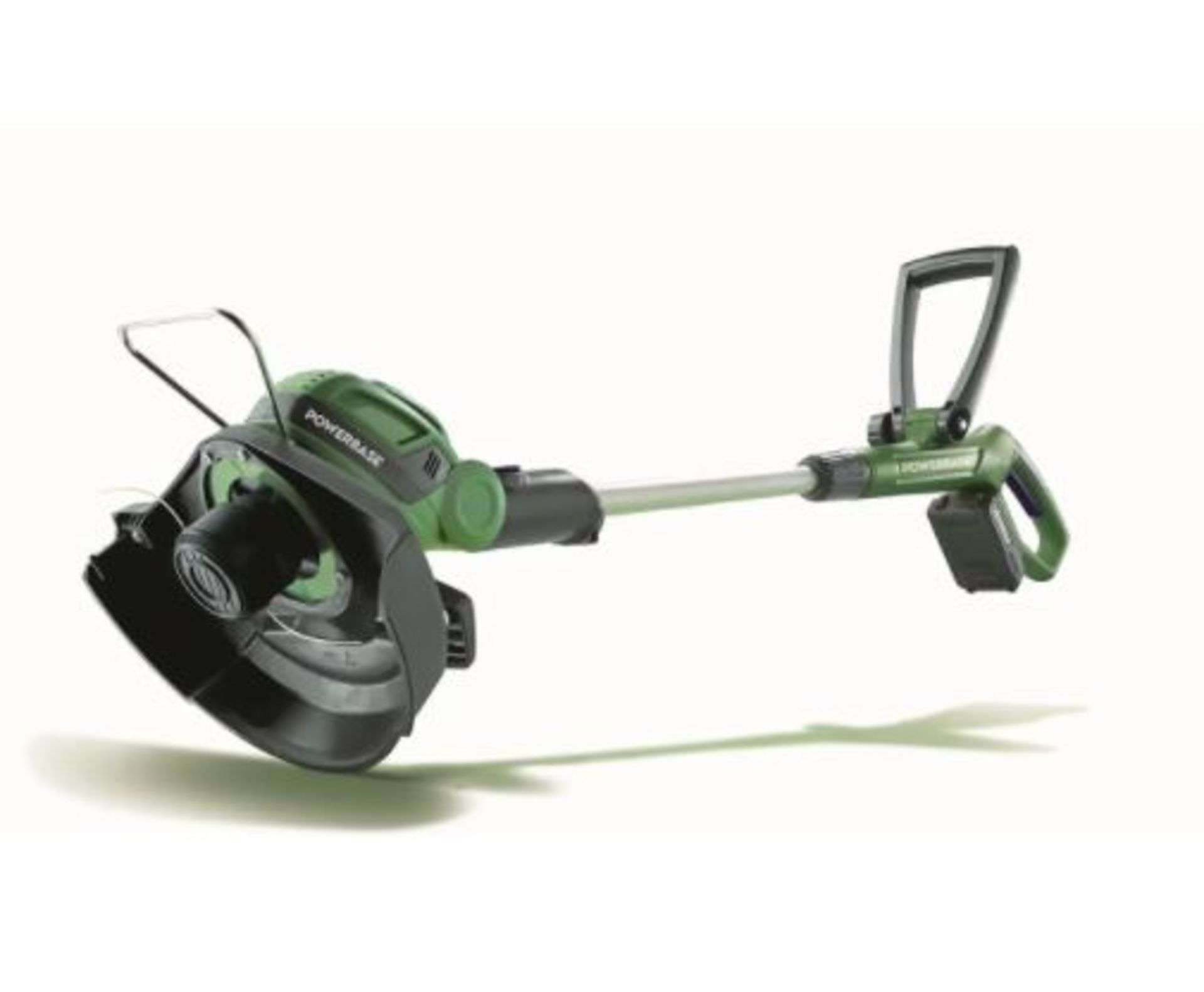 (P5) 2x Powerbase Items. 1x 25cm 20V Cordless Grass Trimmer RRP £59 (Unit Appears Clean, Unused Wit