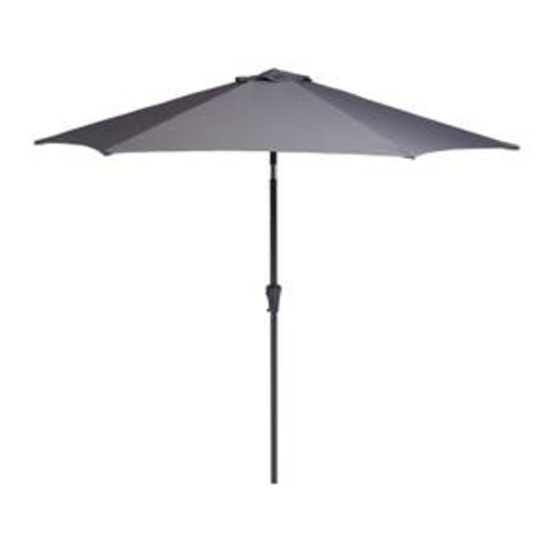 (2O) 6x Mixed Size / Style Parasols Heads. (Please Note Only Black Parasol Has Lower Base Pole – Al