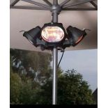 (P2) 1x La Hacienda Fuego Heatmaster Parasol Heater. RRP £129.99. (H19x D45cm)