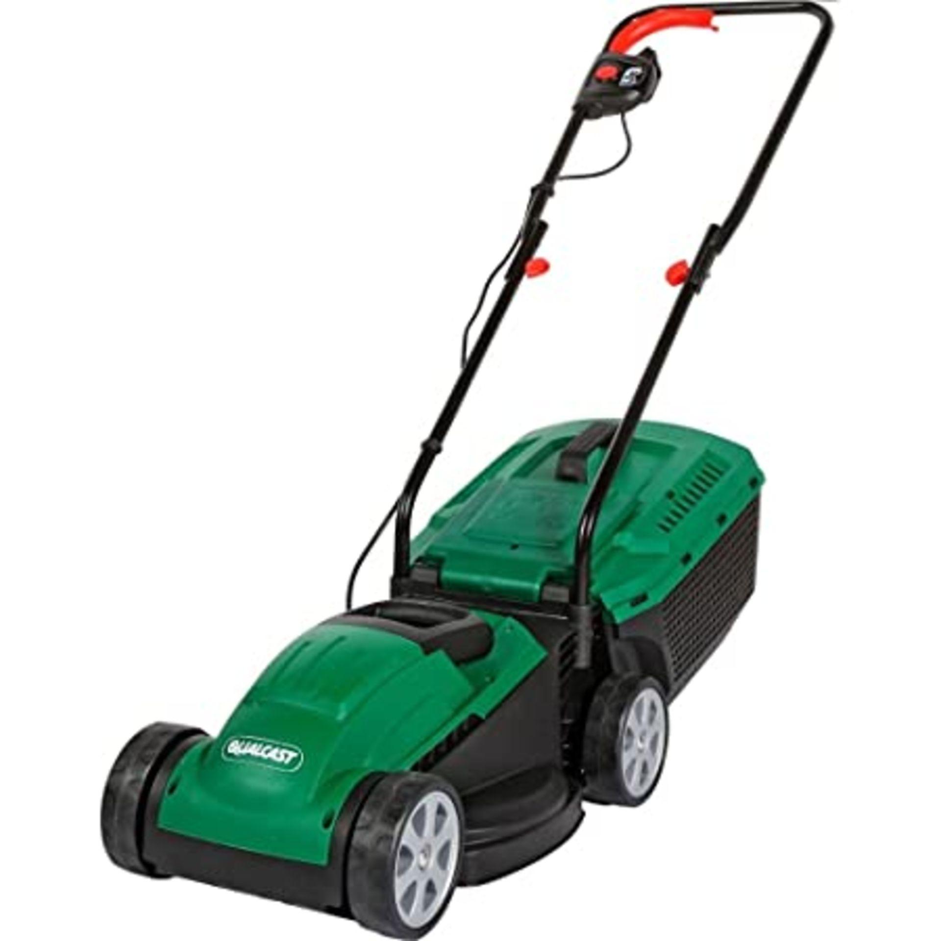 (P9) 2x Items. 1x Powerbase 32cm 400W Electric Cylinder Lawn Mower. RRP £89. 1x Qualcast 32cm 1200 - Image 2 of 3