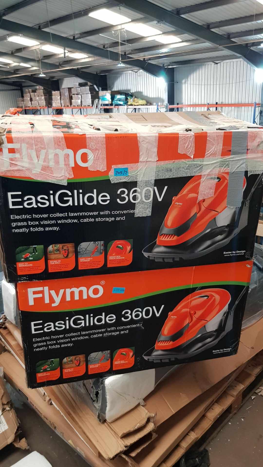 (P7) 2x Flymo EasiGlide 360V Electric Hover Collect Lawnmower RRP £120 Each. - Image 3 of 3