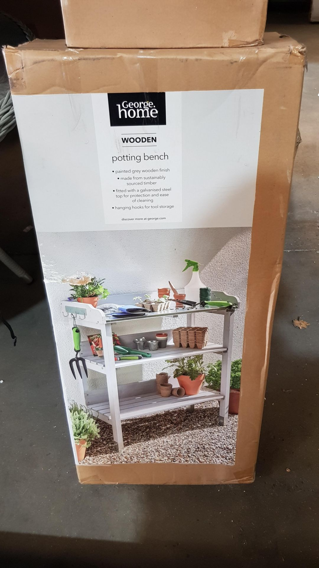 (3C) 2x Items. 1x GH Wooden Plant Stand. 1x GH Wooden Potting Bench. - Image 5 of 5