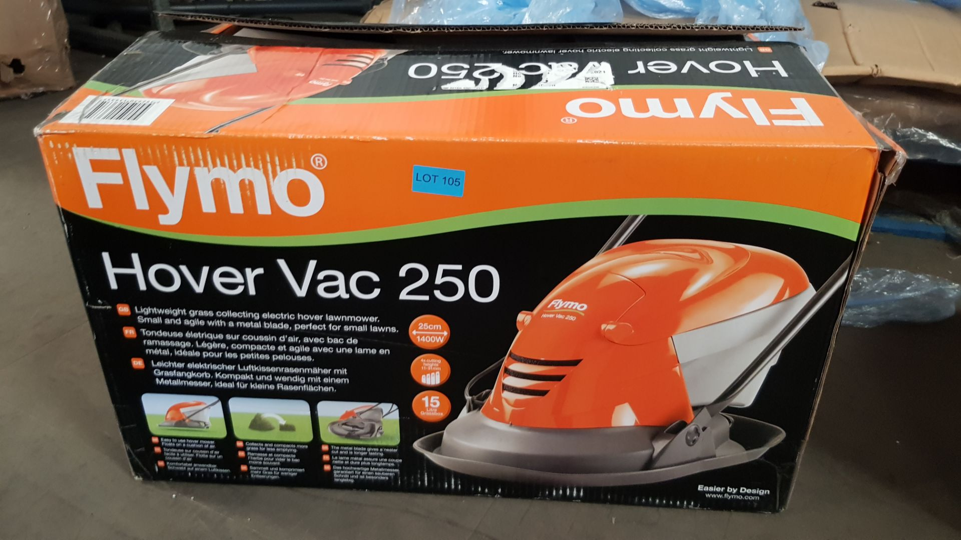 (P2) 1x Flymo HoverVac 250 RRP £80. Unit Appears Clean, Unused & As New. - Image 3 of 5