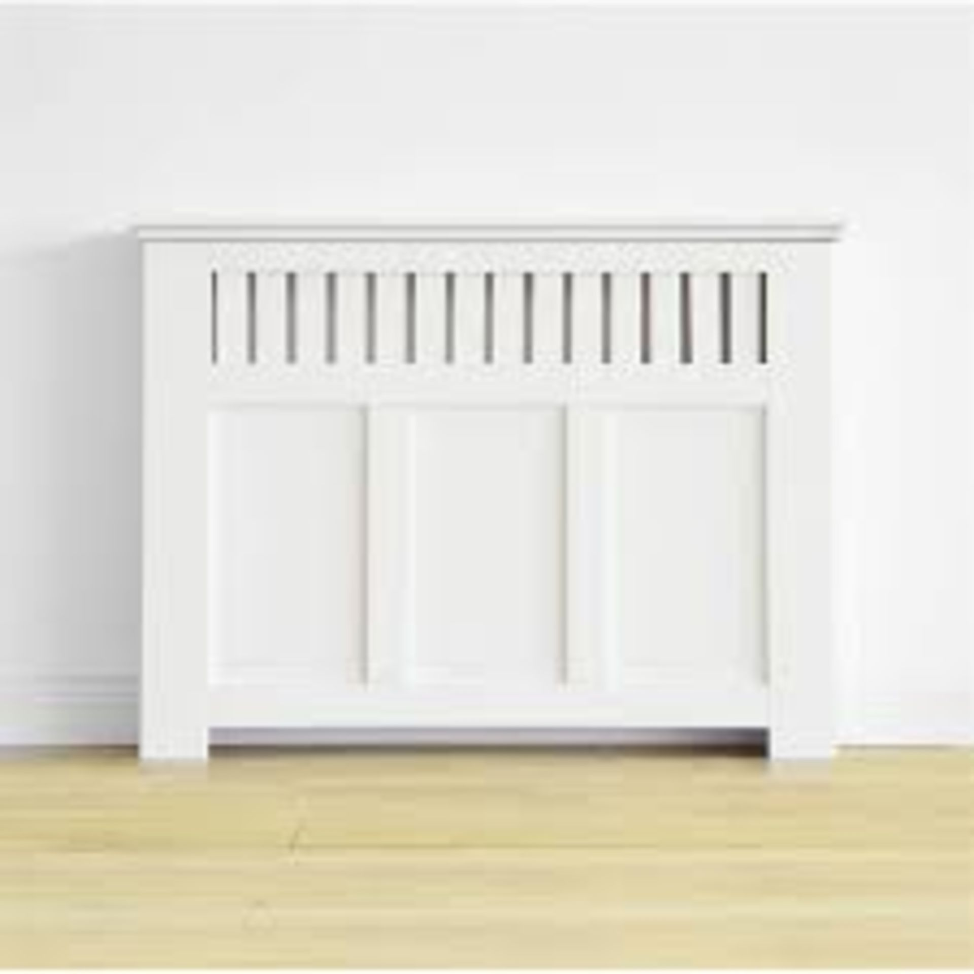 (3F) 1x Winther Browne Wilton Radiator Cabinet Smooth White Finish.