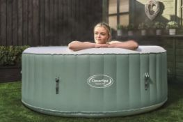 (P9) 1x CleverSpa Cotswolds RRP £350. Unit Inflates. Lot Comes With Cover, Ground Sheet, Pump Pip