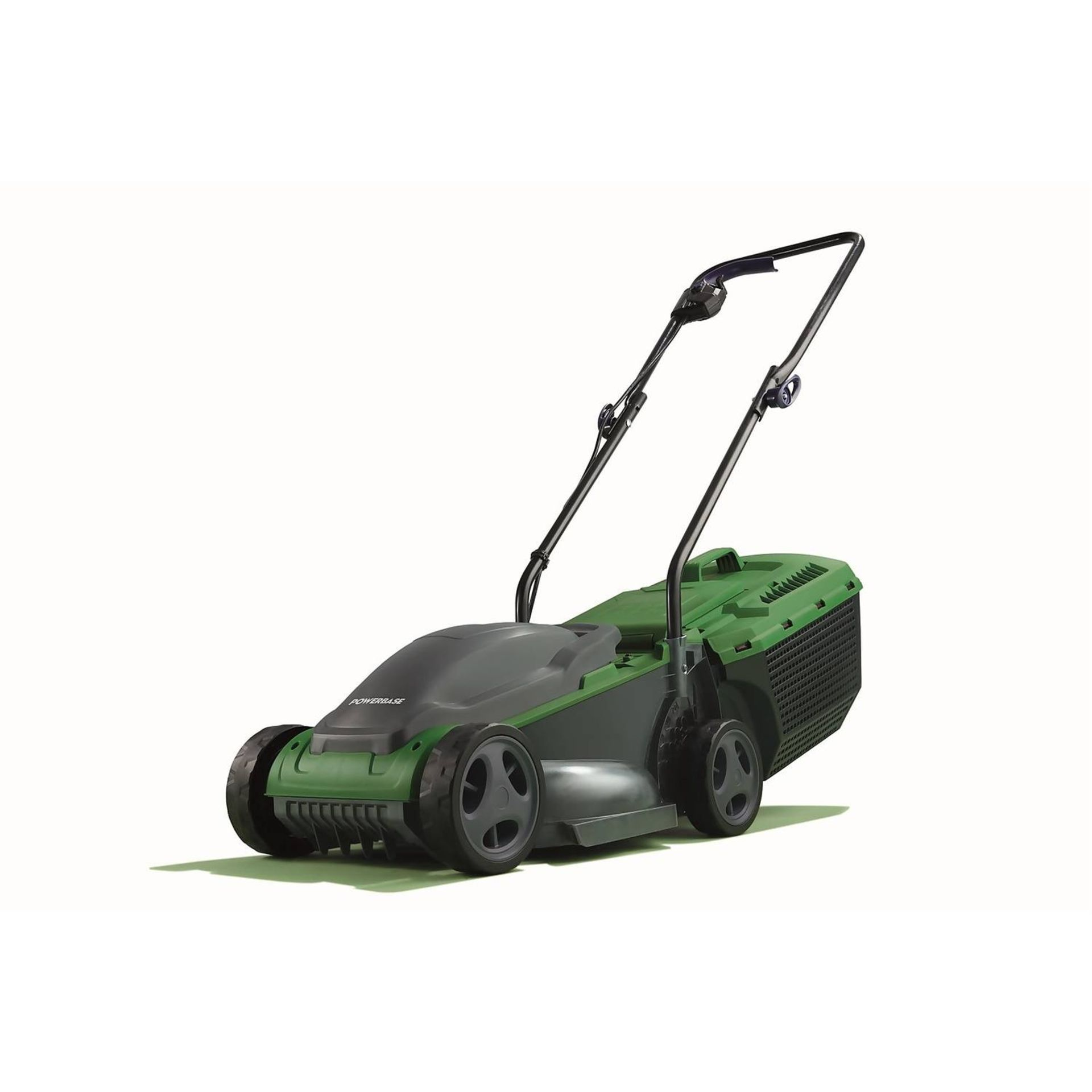 (P8) 1x Powerbase 32cm 1200W Electric Rotary Lawn Mower RRP £59. (Unit Appears Clean, Unused & As