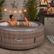 1x CleverSpa Florence RRP £560. 6 Person Hot Tub. Unit Powers On And Inflates. Lot Includes Lid, G