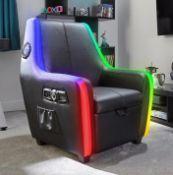 (15) 1x X-Rocker Shift Premier Maxx RGB 4.1 Gaming Chair RRP £499.00. 4.1 Audio System, RGB Strips,