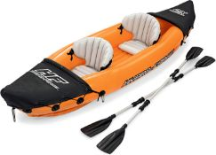 (14B) 1x Bestway Hydro Force Lite Rapid X2 Kayak With Pump.