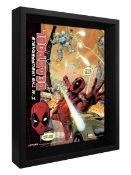 (15F) 9x Amazing 3D Collector's Limited Edition Framed Picture. 2x Deadpool. 1x Batman Arkham Origi