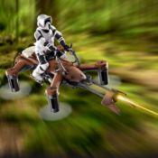 (14A) 1x Propel Star Wars Battle Quadcopter 74-Z Speeder Bike RRP £65.
