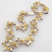 Certificated 18K White Gold Fancy Diamond & Diamond Bracelet (Total 6.03 Ct. Stone)
