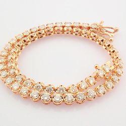 14K Rose/Pink Gold Diamond Bracelet