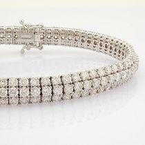 Certificated 18K White Gold Diamond Bracelet (Total 8.8 Ct. Stone)