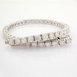 Certificated 18K White Gold Diamond Bracelet (Total 5.3 Ct. Stone)