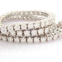 Certificated 14K White Gold Diamond Bracelet (Total 2.3 Ct. Stone)