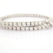 Certificated 14K White Gold Diamond Bracelet (Total 4.78 Ct. Stone)