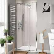 New 700 mm - 8 mm - Premium Easy clean Hinged Shower Door. RRP £349.99.H82600Cp. 8 mm Easycl ___New