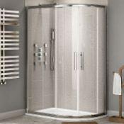 Twyford's 900x800 mm - 8 mm - Premium Easy clean Offset Quadrant Shower Enclosure - Reversible. RRP