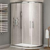 NEW Twyford's 900x800 mm - 8 mm - Premium Easy clean Offset Quadrant Shower Enclosure - Reversible .