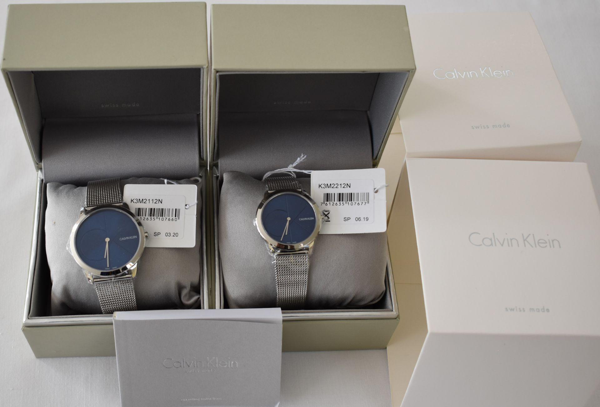 Calvin klein His/Her K3M2112N/K3M2212N Watches