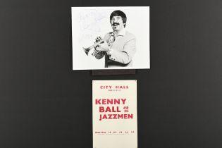 KENNY BALL (1930-2013) Original signature