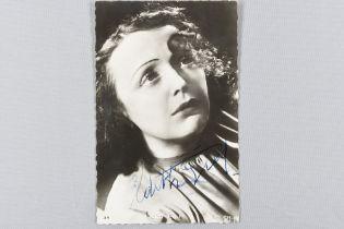 EDITH PIAF (1915-1963) Original signature
