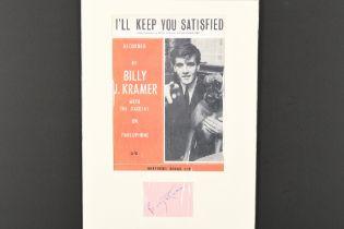 BILLY J KRAMER Original signature