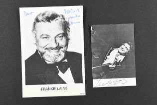 FRANKIE VAUGHAN (1928-1999) Original signature