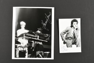 HOWARD JONES & DAVID ESSEX Original signatures
