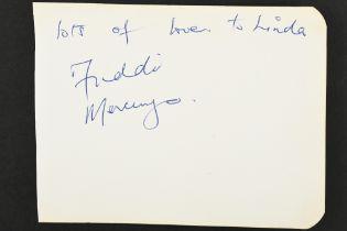 FREDDIE MERCURY Original signature